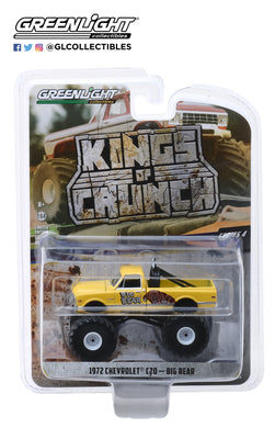 GreenLight 1/64 Kings of Crunch Series 4 - Big Bear - 1972 Chevrolet C20 Cheyenne Monster Truck 49040-F