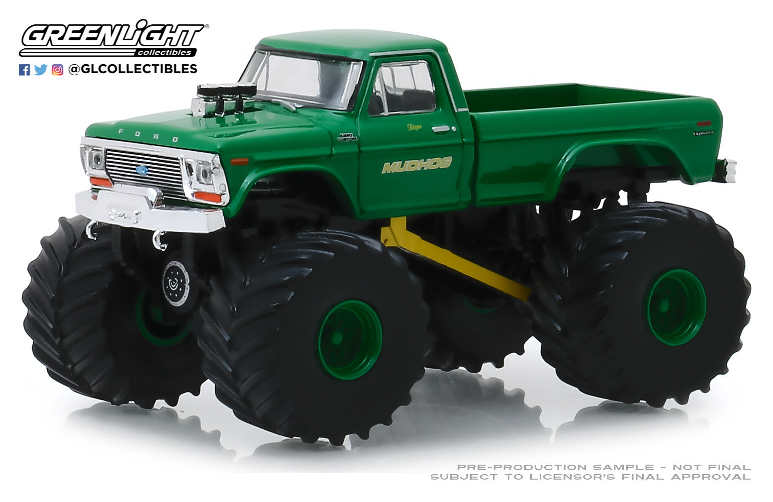 GreenLight 1:64 Kings of Crunch Series 5 - Mudhog - 1979 Ford F-250 Monster Truck 49050-C