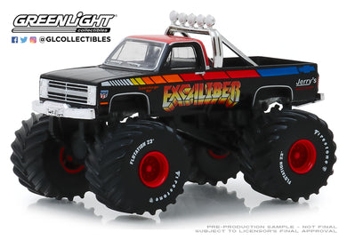 GreenLight 1:64 Kings of Crunch Series 5 - Excaliber - 1987 Chevrolet K20 Silverado Monster Truck 49050-E