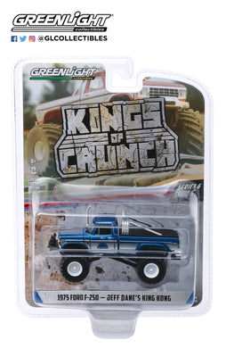 GreenLight 1:64 Kings of Crunch Series 6 - King Kong - 1975 Ford F-250 (Original Blue) Monster Truck 49060-B