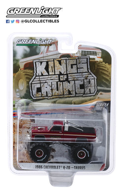 GreenLight 1:64 Kings of Crunch Series 6 - Taurus - 1986 Chevrolet K20 Monster Truck 49060-D
