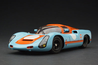 EXOTO 1/18 1967 Porsche 910 Gulf Livery Vintage Racing Diecast Model Car MTB00064A