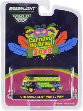 GreenLight 1:64 Volkswagen Type 2 Panel Van - Carnaval do Brasil 2020 (Carnival of Brazil) (Hobby Exclusive) 30127