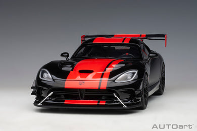 AUTOART 1/18 DODGE VIPER 1:28 EDITION ACR 2017 (VENOM BLACK W/ RED STRIPES) 71732