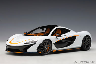 AUTOART 1/18 McLAREN P1 (ALASKAN DIAMOND WHITE/BLACK ACCENT) 76064