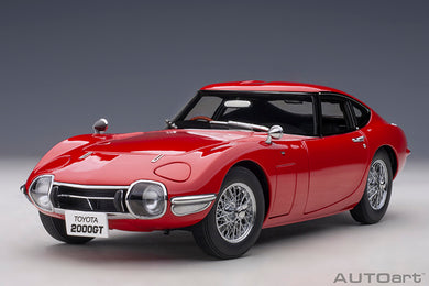 AUTOART 1:18 TOYOTA 2000GT (RED / WIRE SPOKE WHEELS) 78761