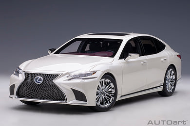 AUTOART 1:18 LEXUS LS 500h (SONIC WHITE METALLIC/CRIMSON & BLACK INTERIOR) 78866