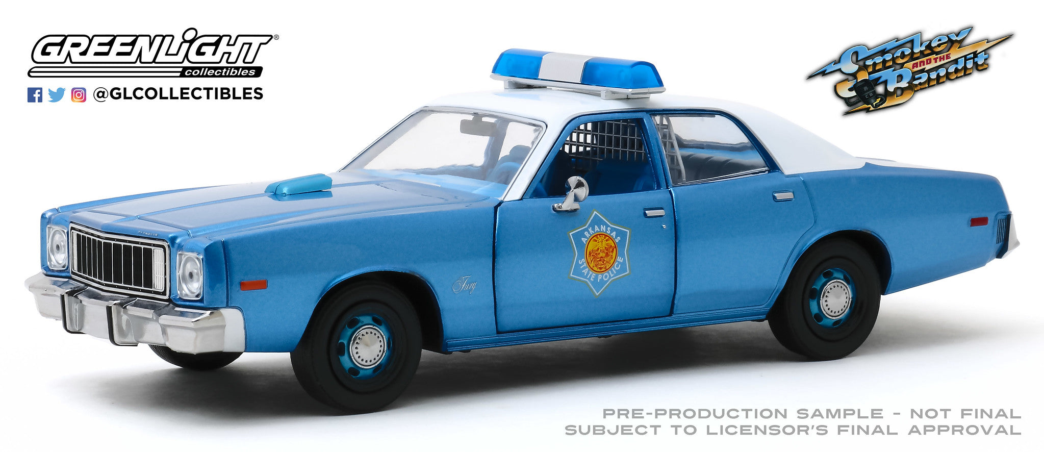 GreenLight 1:24 Smokey and the Bandit (1977) - 1975 Plymouth Fury Arkansas State Police 84102
