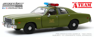 GreenLight 1:24 The A-Team (1983-87 TV Series) - 1977 Plymouth Fury U.S. Army Police 84103