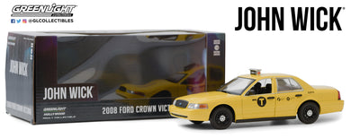 GreenLight 1:24 John Wick: Chapter 2 (2017) - 2008 Ford Crown Victoria Taxi 84113
