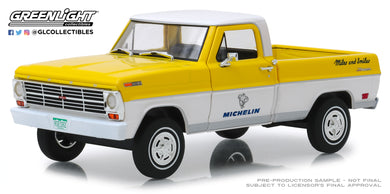 GreenLight 1/24 Running on Empty - 1968 Ford F-100 - Michelin Tires 85023
