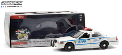 GreenLight 1:24 Hot Pursuit - 2011 Ford Crown Victoria Police New York City Police Dept (NYPD) 85513