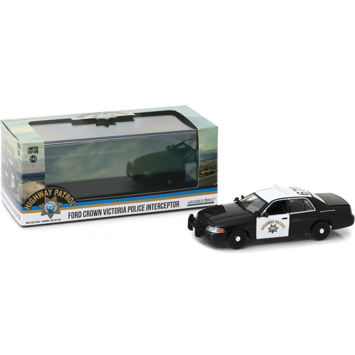 GreenLight 1/43 2008 Ford Crown Victoria Police Interceptor California Highway Patrol 86086