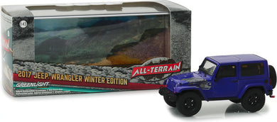 GreenLight 1/43 2017 Jeep Wrangler Winter Edition - Xtreme Purple 86151
