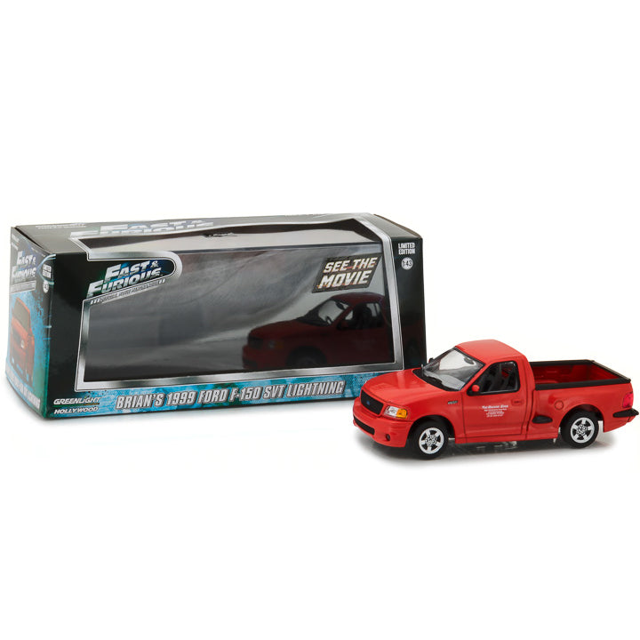 GreenLight 1/43 Fast and the Furious (2001) 1999 Ford F-150 Svt Lightning 86235