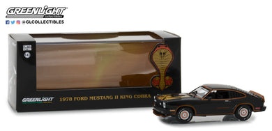GreenLight 1/43 1978 Ford Mustang II King Cobra - Black & Gold 86320