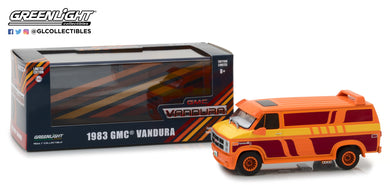 GreenLight 1/43 1983 GMC Vandura Custom - Orange with Custom Graphics 86327