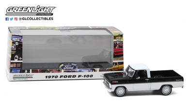 GreenLight 1:43 1970 Ford F-100 - Raven Black and Pure White 86338