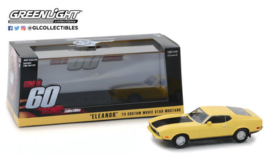 GreenLight 1:43 Gone in Sixty Seconds (1974) - 1973 Ford Mustang Mach 1 Eleanor 86412
