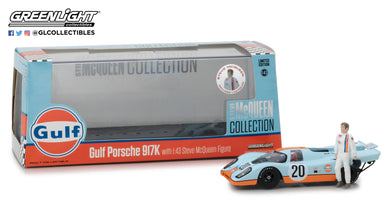 GreenLight 1/43 Steve McQueen Collection (1930-80) - 1970 Porsche 917K Gulf Oil with Steve McQueen Figure 86435