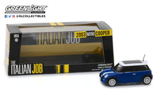 GreenLight 1:43 The Italian Job (2003) - 2003 Mini Cooper - Blue with White Stripes 86546