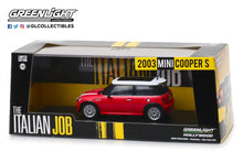 GreenLight 1:43 The Italian Job (2003) - 2003 Mini Cooper S - Red with White Stripes 86547