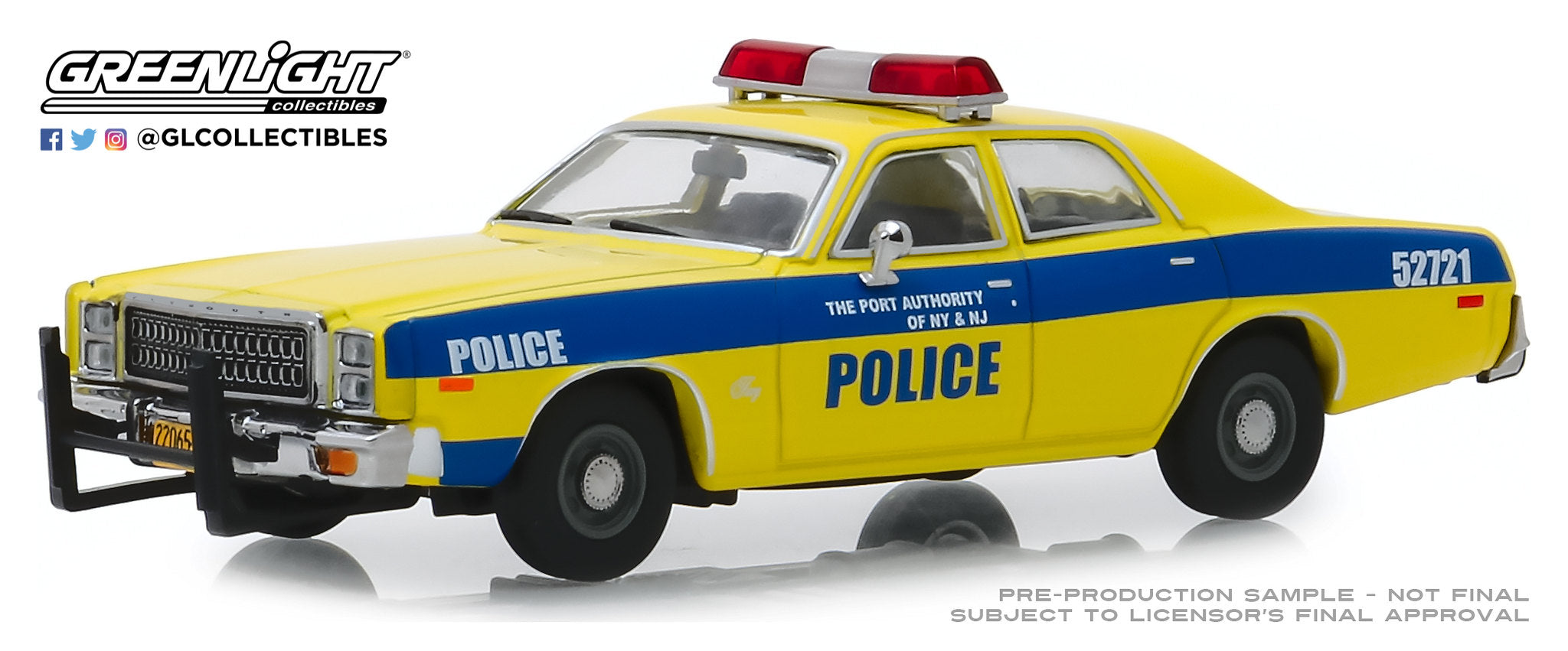 GreenLight 1:43 1977 Plymouth Fury - Port Authority of New York & New Jersey Police 86568