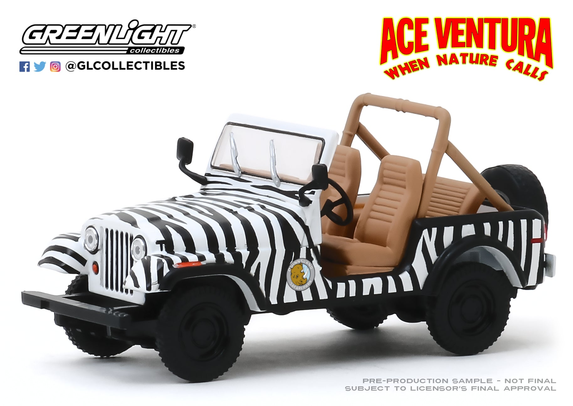 GreenLight 1:43 Ace Ventura: When Nature Calls (1995) - 1976 Jeep CJ-7 86574