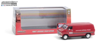 GreenLight 1:43 1987 Dodge Ram B150 Van 71st Annual Indianapolis 500 Mile Race Official Truck 86576