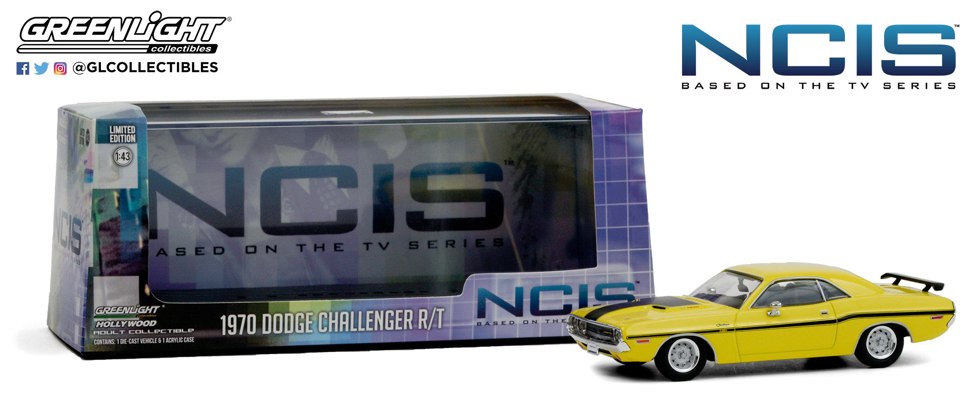GreenLight 1:43 NCIS (2003-Current TV Series) - 1970 Dodge Challenger R/T 86579