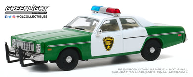 GreenLight 1:43 1975 Plymouth Fury - Chickasaw County Sheriff 86595