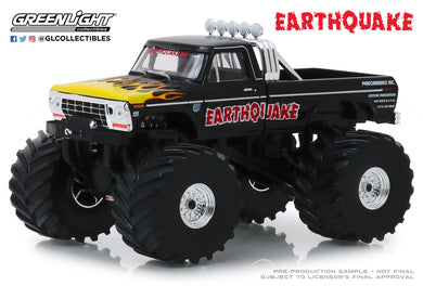 GreenLight 1:43 Kings of Crunch - Earthquake - 1975 Ford F-250 Monster Truck (with 66-Inch Tires) 88022