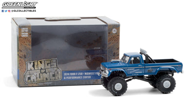 GreenLight 1:43 Kings of Crunch - Midwest Four Wheel Drive & Performance Center - 1974 Ford F-250 Monster Truck (with 48-Inch Tires) 88031