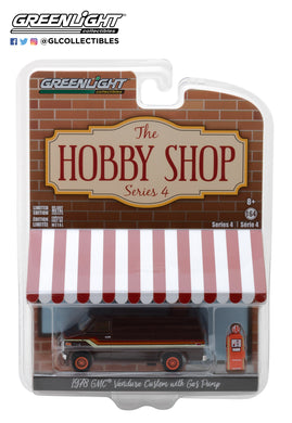 GreenLight 1/64 The Hobby Shop Series 4 - 1978 GMC Vandura Custom with Gas Pump 97040-D