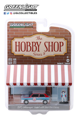 GreenLight 1:64 The Hobby Shop Series 8 - 1975 Volkswagen Rabbit Widebody with Race Car Driver 97080-B