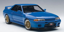 AUTOART 1/18 NISSAN SKYLINE GT-R (R32) V-SPEC II TUNED VERSION (BLUE) 77415