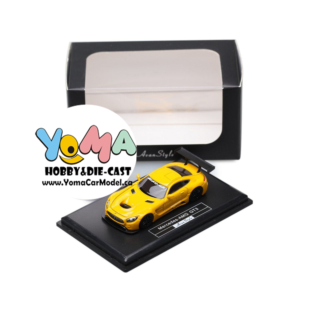 Frontiart AvanStyle 1/87 Mercedes Benz AMG GT3 Yellow AS017-08