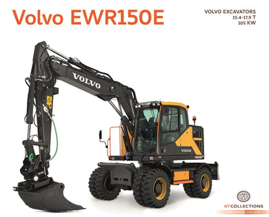 AT Collections 1/32 Volvo EWR150E Excavator with Steelwrist Tiltrotator and Mitas Twin Tires AT3200101