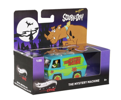 HOT WHEELS 1/50 ELITE ONE SCOOBY DOO MYSTERY MACHINE SHAGGY SCOOBY FIGURES BCJ81