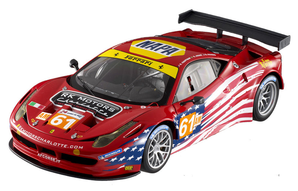 Hot Wheels Elite 1/18 Ferrari 458 Italia GT2 LeMans #61 AF Corse Sebring BCT78