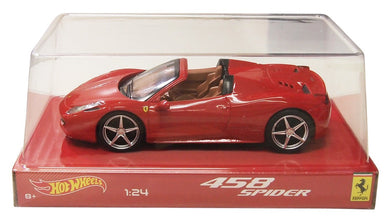 Hot Wheels 1/24 Ferrari 458 Italia Spider Red BLY64