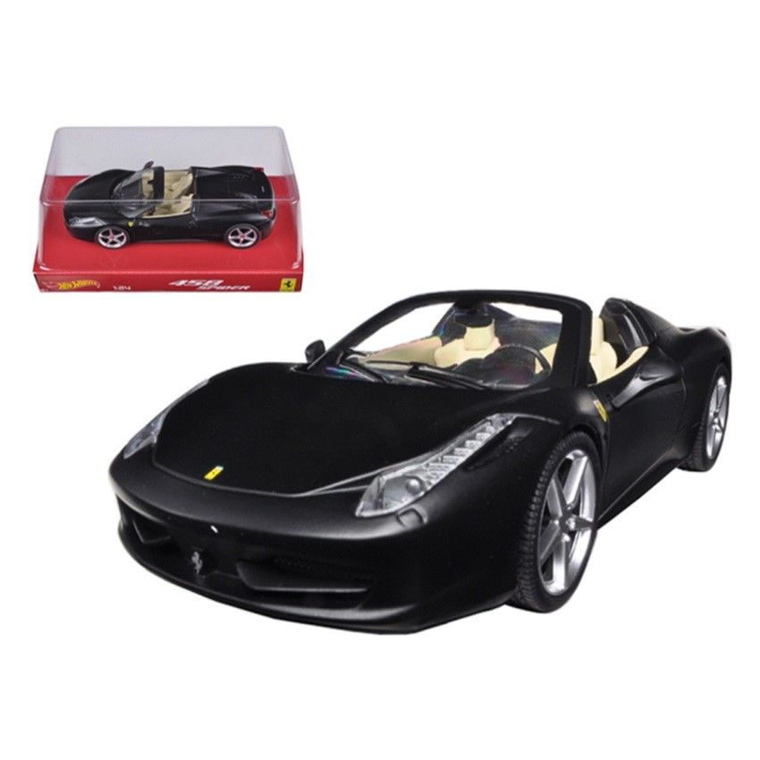 Hot Wheels 1/24 Ferrari 458 Italia Spider Matt Black BLY65