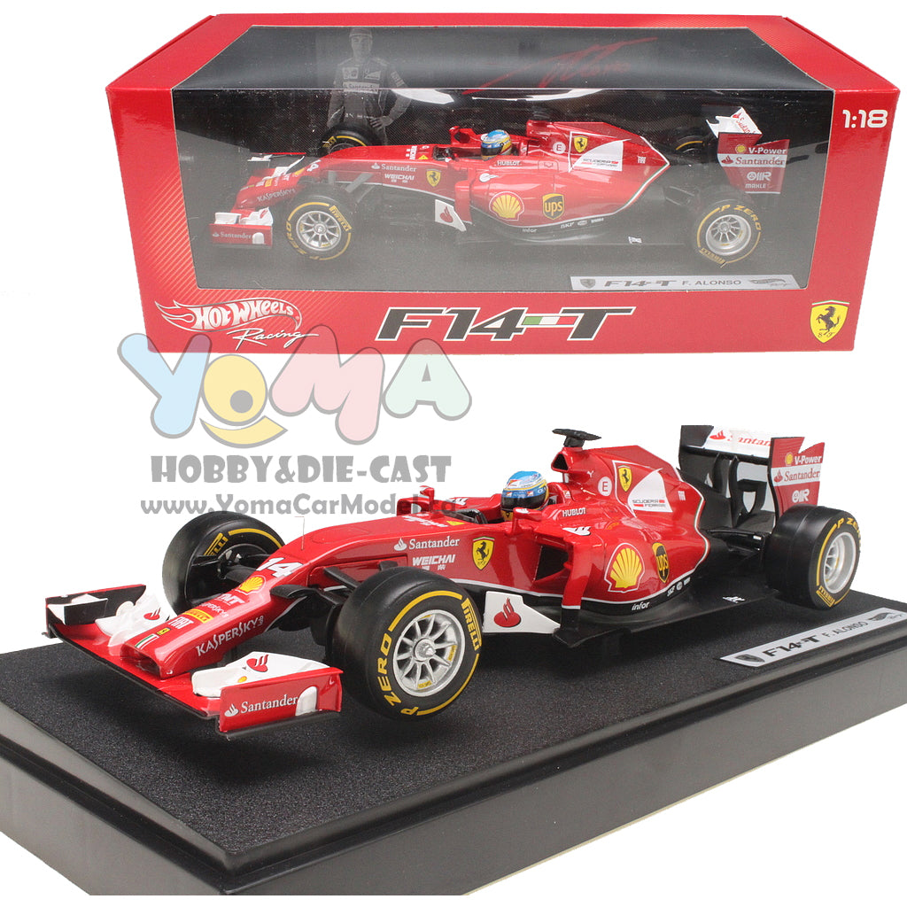 Hot Wheels 1/18 Ferrari F2014 F14-T Formula 1 Fernando Alonso #14 BLY67