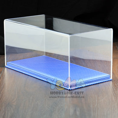 1/18 32cm*16cm*14cm Display box Show Case and Carbon Fiber Base Blue DB-32-BLCA