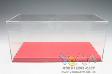 1/18 32cm*16cm*14cm Display box Show Case and Base Red DB-32-R-P