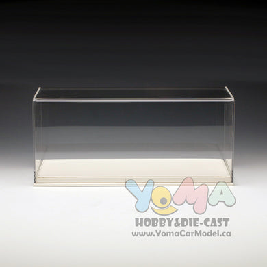 1/18 32cm*16cm*14cm Display box Show Case and Base White DB-32-W-P