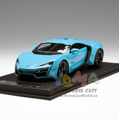 Frontiart 1/18 W Motor Lykan Hypersport Tiffany Blue F030-33