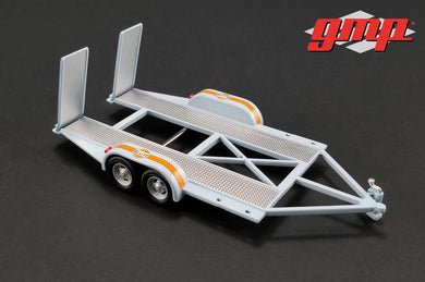 GMP 1/43 GMP Tandem Car Trailer with Tire Rack - Gulf Oil GMP-14304