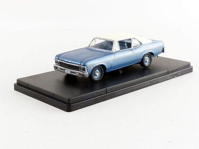 GMP 1/43 GMP Beverly Hills Cop (1984) - 1970 Chevrolet Nova - Blue with White Roof GMP-14308