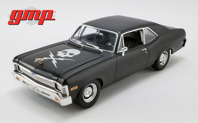 GMP 1:18 1971 Chevrolet Nova - Matte Black (as driven in horror film Death Proof) GMP-18925